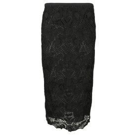 ロシャス レディース スカート ボトムス Rochas Lace Skirt Black