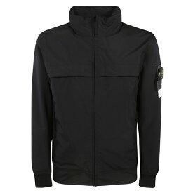 ストーンアイランド メンズ ジャケット&ブルゾン アウター Stone Island Logo Sleeve Patch Jacket Nero