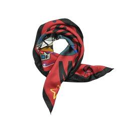 モスキーノ レディース マフラー・ストール・スカーフ アクセサリー Moschino Teddy Bear Dj Printed Silk Scarf Red