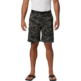 コロンビア メンズ ハーフ&ショーツ ボトムス Columbia Men's Silver Ridge Printed 10 Inch Cargo Short Black Camo