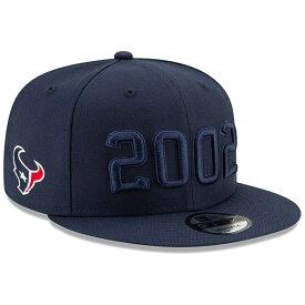 ニューエラ メンズ 帽子 アクセサリー Houston Texans New Era 2019 NFL Sideline Color Rush 9FIFTY Adjustable Snapback Hat Navy