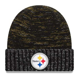 ニューエラ メンズ 帽子 アクセサリー Pittsburgh Steelers New Era 2017 Color Rush Knit Hat Black