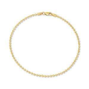 ジャニ ベルニーニ レディース ブレスレット・バングル・アンクレット アクセサリー Beaded Link Ankle Bracelet in 18k Gold-Plated Sterling Silver, Created for Macy's Gold Over Silver