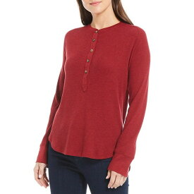 ペンドルトン レディース Tシャツ トップス Long Sleeve Thermal Henley Cotton Blend Tee Red Rock/Heather