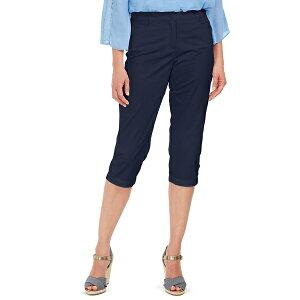 ケレンスコット レディース カジュアルパンツ ボトムス Button-Hem Comfort-Waist Capri Pants, Created for Macy's Intrepid Blue