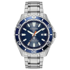 シチズン レディース 腕時計 アクセサリー Eco-Drive Men's Promaster Diver Stainless Steel Bracelet Watch 44mm Silver