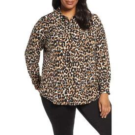 レオタ レディース カットソー トップス Jada Leopard Print Jersey Blouse Leopard
