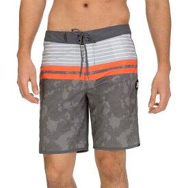 ハーレー メンズ 水着 水着 Hurley Men's Phantom Aloha Stripe Board Shorts DarkGrey