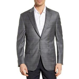 ピーター・ミラー メンズ ジャケット&ブルゾン アウター Classic Fit Plaid Wool Sport Coat GREY