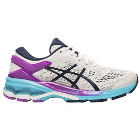 アシックス レディース ランニング スポーツ ASICS Women's GEL-Kayano 26 Running Shoes White/Peacoat