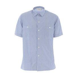 ゴールデングース メンズ シャツ トップス Striped Shirt Biancoceleste