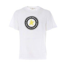 ゴールデングース メンズ カットソー トップス Logo Patched T-shirt Bianco