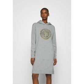 トミー ヒルフィガー レディース ワンピース トップス HOODIE DRESS - Day dress - light grey heather qpfh021a