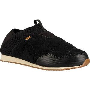 テバ レディース スニーカー シューズ Women's Teva Ember Moc Toe Sneaker Black Suede