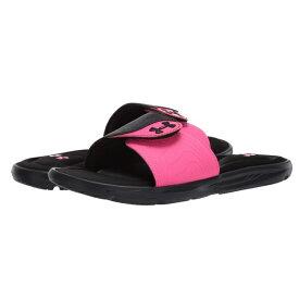 アンダーアーマー レディース サンダル シューズ UA Ignite IX SL Black/Pink Surge/Pink Surge