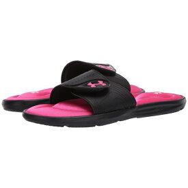 アンダーアーマー レディース サンダル シューズ UA Ignite IX SL Black/Black/Pink Surge