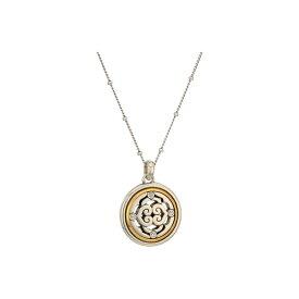 ブライトン レディース ネックレス・チョーカー・ペンダントトップ アクセサリー Intrigue Reverse Petite Necklace Silver/Gold