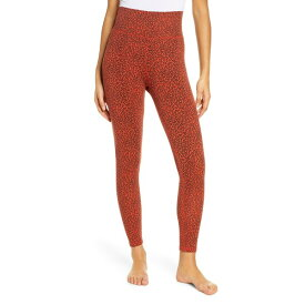 ラグドル レディース レギンス ボトムス Ragdoll Leopard Print High Waist Leggings Red Mini Leopard