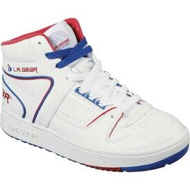 スケッチャーズ レディース スニーカー シューズ L.A. Gear Slammer Americana Sneaker White/Navy/Red