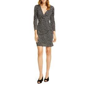 レベッカテイラー レディース ワンピース トップス Rebecca Taylor Long Sleeve Dot Jersey Minidress Black