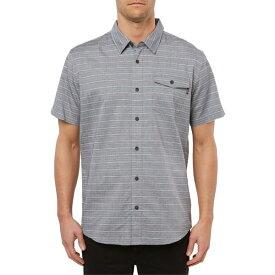 オニール メンズ シャツ トップス O'Neill Icon Stripe Short Sleeve Button-Up Shirt Black