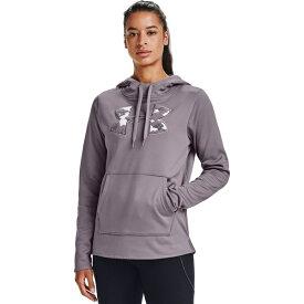 アンダーアーマー レディース パーカー・スウェットシャツ アウター Under Armour Women's Armour Fleece Big Logo Camo Shine Hoodie Purple Light 02