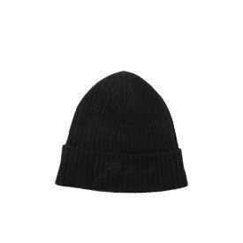 バルマン メンズ 帽子 アクセサリー Balmain Logo Emrboidered Beanie Nero
