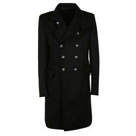 バルマン メンズ ジャケット&ブルゾン アウター Balmain Double Breasted Coat Black