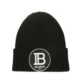 バルマン メンズ 帽子 アクセサリー Balmain Logo Beanie Black