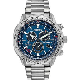 シチズン レディース 腕時計 アクセサリー Eco-Drive Men's Chronograph Promaster Air Titanium Bracelet Watch 46mm, Silver
