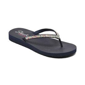 スケッチャーズ レディース スニーカー シューズ Women's Cali Meditation - Perfect 10 Flip-Flop Thong Sandals from Finish Line Navy Multi, Navy