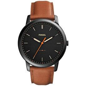 フォッシル レディース 腕時計 アクセサリー Men's The Minimalist Brown Leather Strap Watch 44mm FS5305 Brown/Black