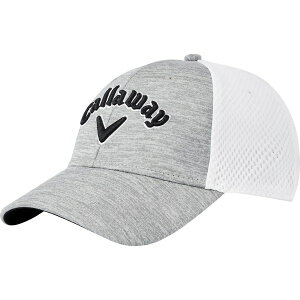 キャラウェイ メンズ 帽子 アクセサリー Callaway Men's Mesh Fitted Golf Hat Grey/White/Black