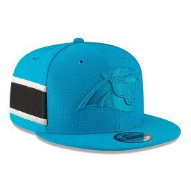 ニューエラ メンズ 帽子 アクセサリー Carolina Panthers New Era 2018 NFL Sideline Color Rush Official 9FIFTY Snapback Adjustable Hat Light Blue