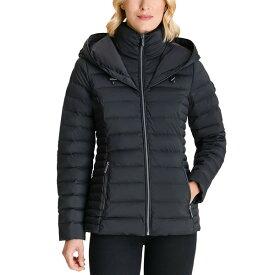 マイケルコース レディース コート アウター Petite Hooded Packable Waterproof Puffer Coat Black