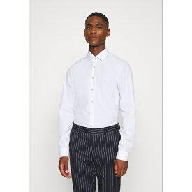 カルバン クライン テイラード メンズ シャツ トップス CONTRAST FLOWER PRINT SLIM - Formal shirt - white rsht017b
