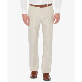 ペリーエリス メンズ カジュアルパンツ ボトムス Men's Classic-Fit Linen Blend Herringbone Pants Natural Linen