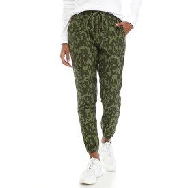 ザリミテッド レディース カジュアルパンツ ボトムス LIMITLESS Camouflage Mid Rise Knit Joggers Olive Camo