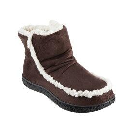 アイソトナー レディース サンダル シューズ Isotoner Microsuede Alex Boot with 360 Surround Memory Foam Slippers, Online Only Dark Chocolate