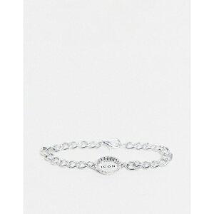 アイコンブランド メンズ ブレスレット・バングル・アンクレット アクセサリー Icon Brand bottle top chain bracelet in silver Silver