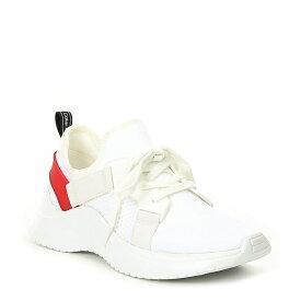 カルバンクライン レディース スニーカー シューズ Urbi Textured Knit Sneakers White