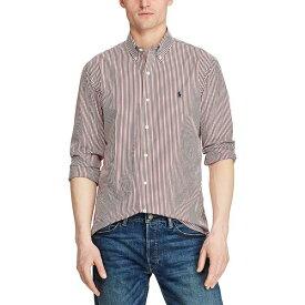ラルフローレン メンズ シャツ トップス Stripe Natural Stretch Poplin Long-Sleeve Woven Shirt Red/White