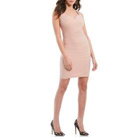 ゲス レディース ワンピース トップス Bandage Ottoman Open Back Sheath Dress Blush