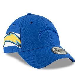 ニューエラ メンズ 帽子 アクセサリー Los Angeles Chargers New Era 2018 NFL Sideline Color Rush Official 39THIRTY Flex Hat Blue