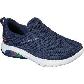 スケッチャーズ レディース スニーカー シューズ GOwalk Air Twirl Slip On Sneaker Navy/White