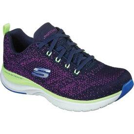 スケッチャーズ レディース スニーカー シューズ Ultra Groove Sneaker Navy/Purple