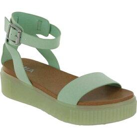 ミア レディース スニーカー シューズ Lunna Athletic Sandal Pastel Green Vegan Leather