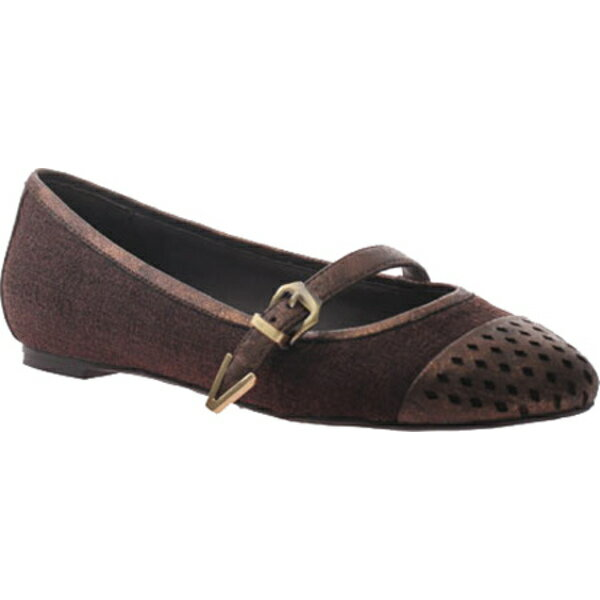ニコル レディース サンダル シューズ Gin Mary Jane Flat Dark Brown Fabric/Polyurethane
