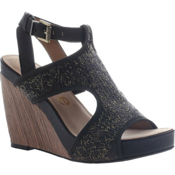 ニコル レディース サンダル シューズ Clementine Wedge Sandal Black Synthetic/Leather