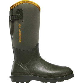 "ラクロス メンズ ブーツ&レインブーツ シューズ Alpha Range 14"" Air Circ Wellington Boot OD Green Rubber/Neoprene"
